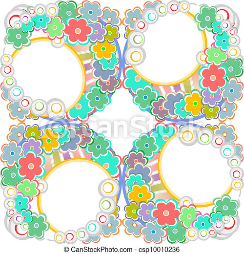 Abstract flowers background - csp10010236