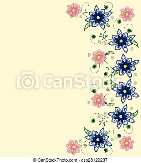 Abstract flowers background - csp28129237