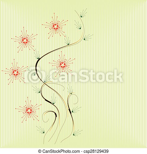 Abstract flowers background - csp28129439