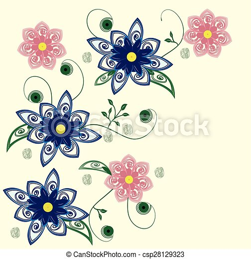 Abstract flowers background - csp28129323