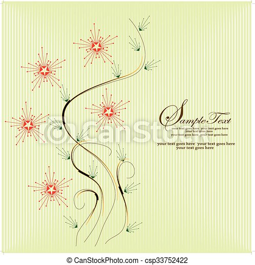 Abstract flowers background - csp33752422