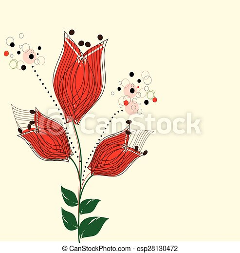 Abstract flowers background - csp28130472