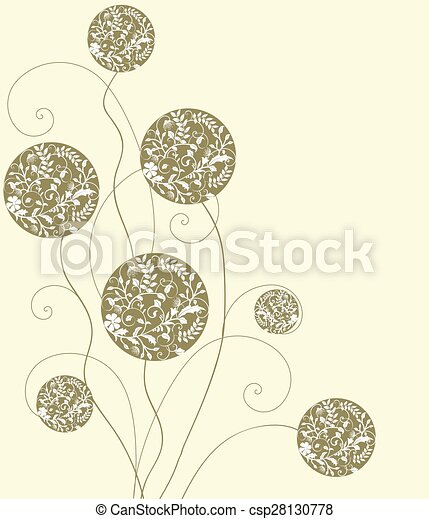 Abstract flowers background - csp28130778