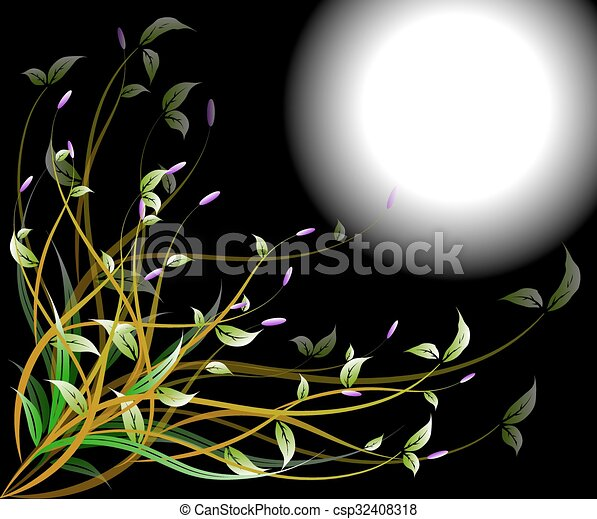 Abstract flowers background - csp32408318