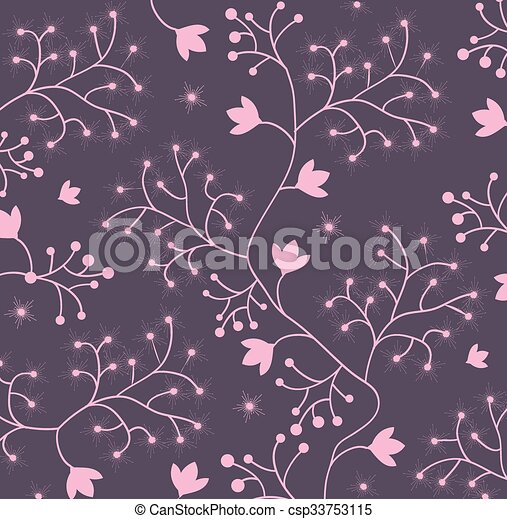 Abstract flowers background  - csp33753115