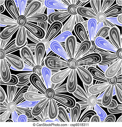 Abstract flowers background - csp9318311