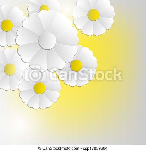 abstract flowers background - csp17859604