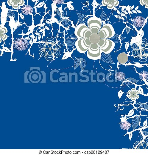Abstract flowers background - csp28129407