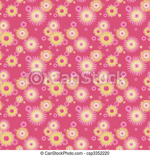 Abstract flowers background - csp3352220