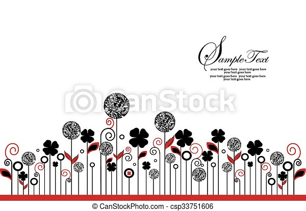 Abstract flowers background - csp33751606
