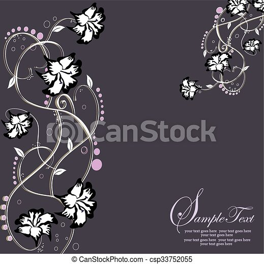 Abstract flowers background with place for your text - csp33752055