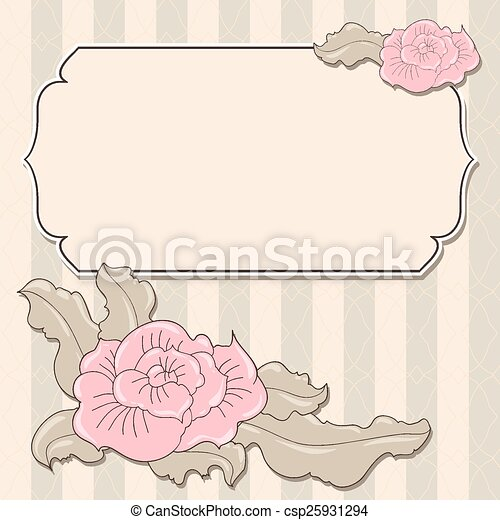 Abstract flowers background with place for your text - csp25931294