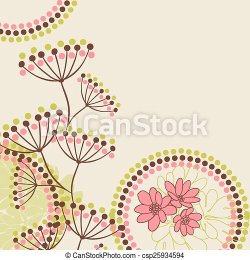 Abstract flowers background with place for your text - csp25934594