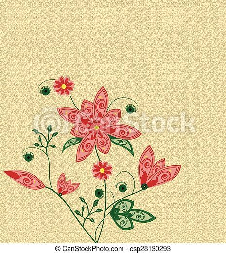 Abstract flowers background with place for your text  - csp28130293