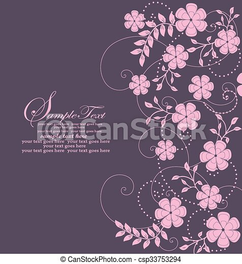 Abstract flowers background with place for your text - csp33753294
