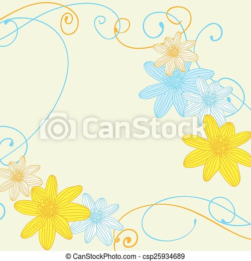 Abstract flowers background with place for your text - csp25934689