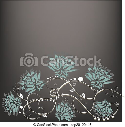 Abstract flowers background with place for your text  - csp28129446