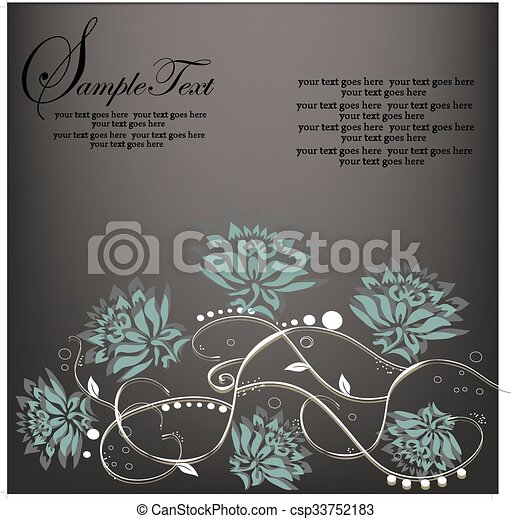 Abstract flowers background with place for your text  - csp33752183