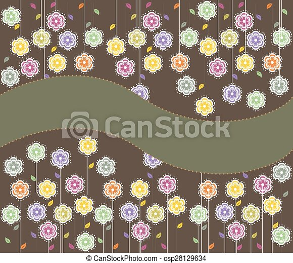 Abstract flowers background with place for text - csp28129634