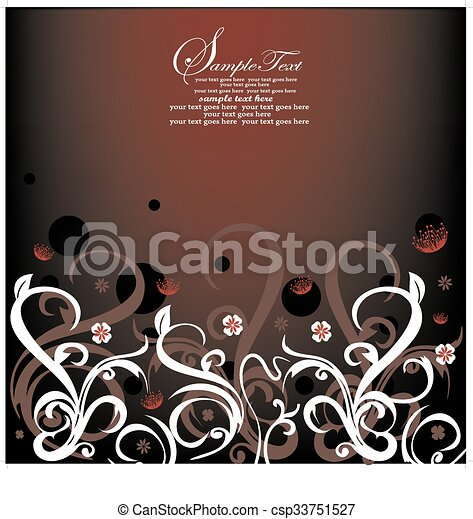 Abstract flowers background with place for your text  - csp33751527