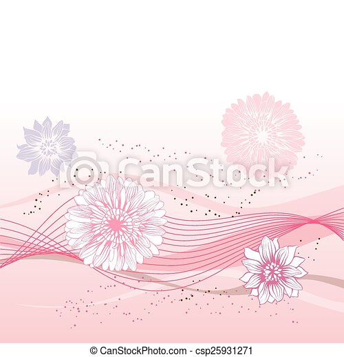 Abstract flowers background with place for your text - csp25931271