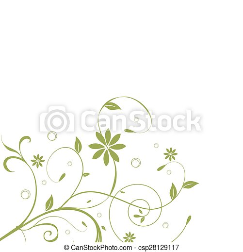 Abstract flowers background with place for your text  - csp28129117