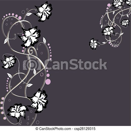 Abstract flowers background with place for your text - csp28129315