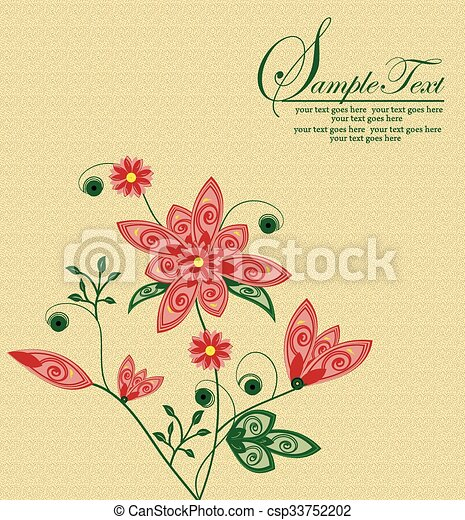 Abstract flowers background with place for your text  - csp33752202
