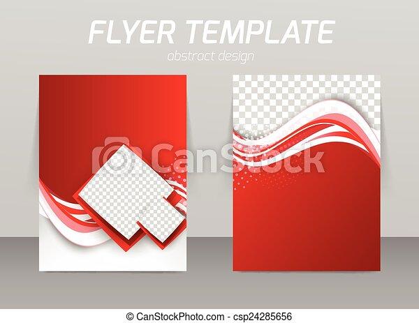 Abstract flyer template design - csp24285656