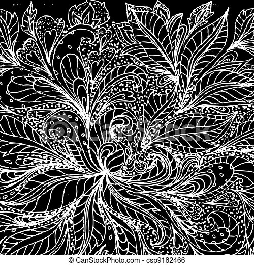 abstract foliage doodle - csp9182466