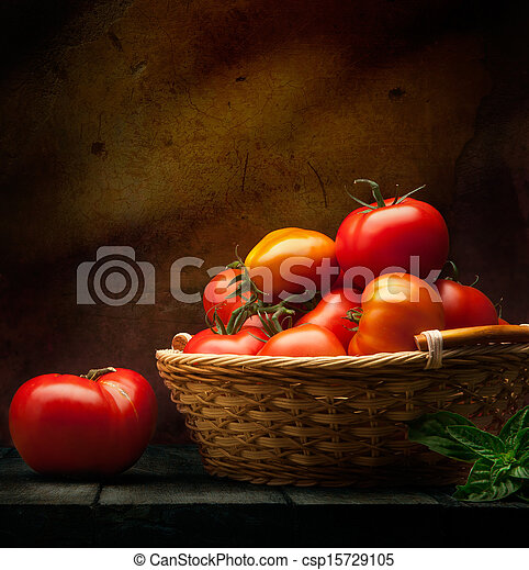 abstract food background vegetables on a wooden background - csp15729105