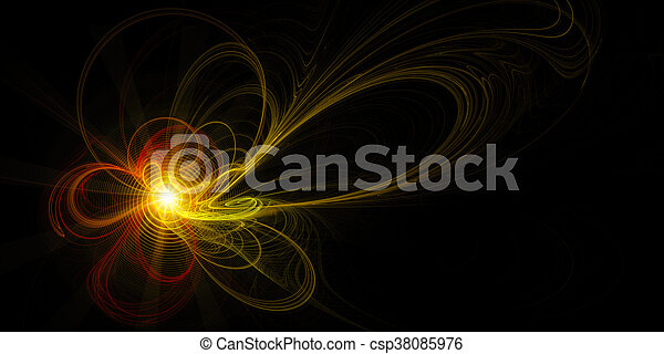 abstract fractal background, Energy - csp38085976