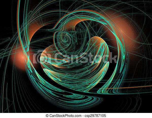 Abstract fractal background - csp29787105