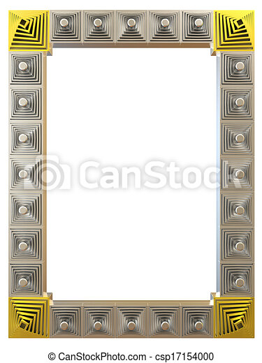 Abstract frame isolated on white background. 3d rendering. - csp17154000