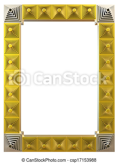 Abstract frame isolated on white background. 3d rendering. - csp17153988
