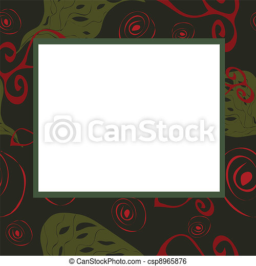 Abstract frame with green and red e - csp8965876