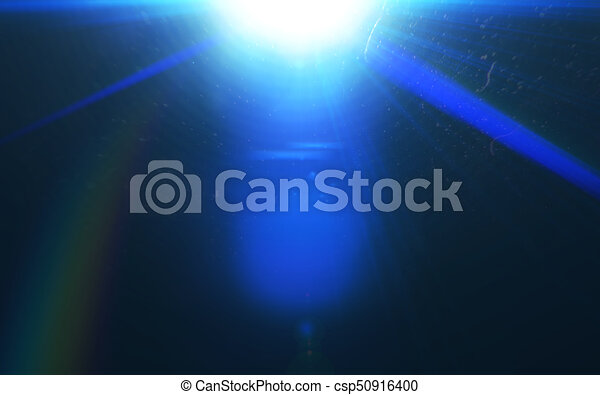 Abstract galactic space scape background with distant stars.Beautiful lens flare effect.Colorful digital lens flare.Sun light effect. - csp50916400