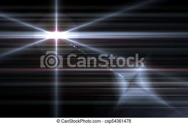 Abstract galactic space scape background with distant stars.Nature white flare effect - csp54361478