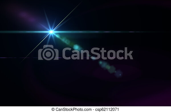 Abstract galactic space scape background with distant stars.Beautiful lens flare effect.Colorful digital lens flare.Sun light effect.. - csp62112071