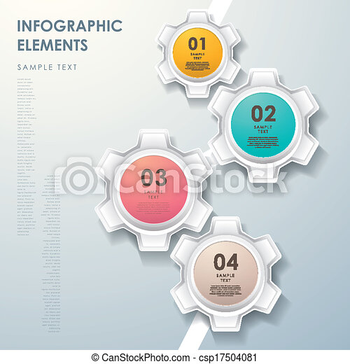 Abstract gear flow chart infographics modern vector vector abstract gear flow chart infographics vector ccuart Images