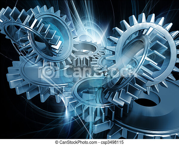 Abstract gears - csp3498115