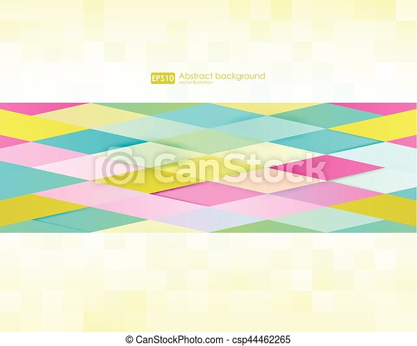 Abstract geometric background. Modern overlapping triangles. Unusual color shapes for your message. Pattern design for banner, poster, flyer, card, postcard, cover, brochure. - csp44462265