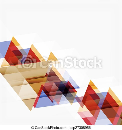 Abstract geometric background. Modern overlapping triangles - csp27308956