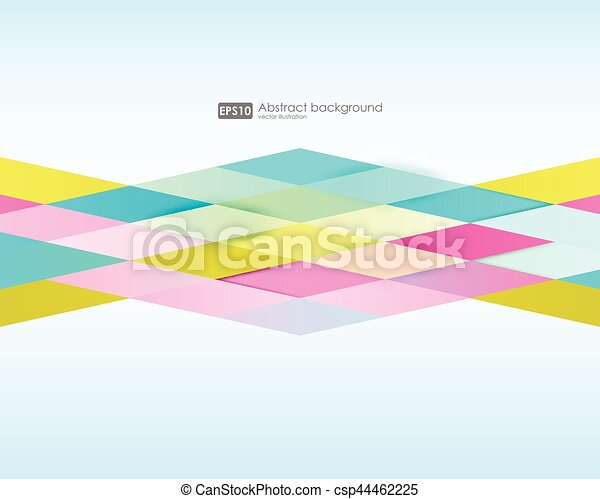 Abstract geometric background. Modern overlapping triangles. Unusual color shapes for your message. Pattern design for banner, poster, flyer, card, postcard, cover, brochure. - csp44462225