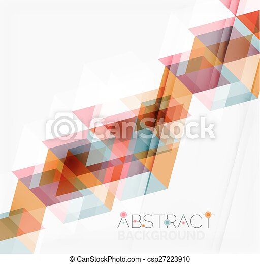 Abstract geometric background. Modern overlapping triangles - csp27223910