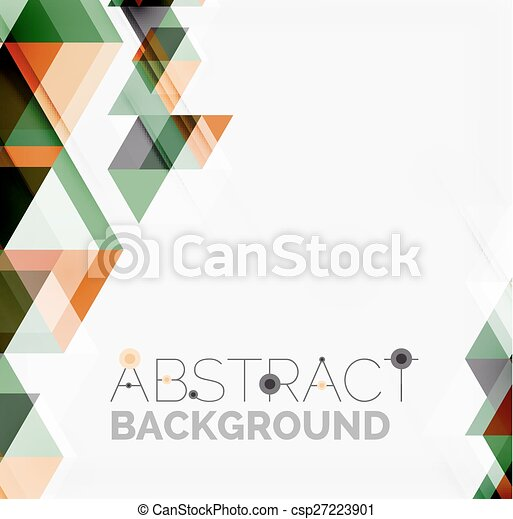 Abstract geometric background. Modern overlapping triangles - csp27223901