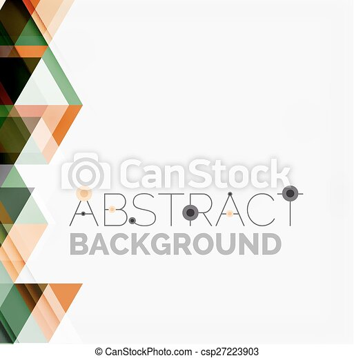 Abstract geometric background. Modern overlapping triangles - csp27223903