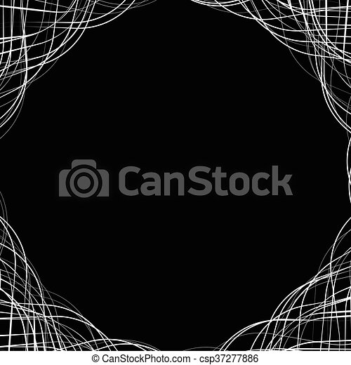 Abstract geometric background, pattern with space in center. Can be used as a frame. - csp37277886