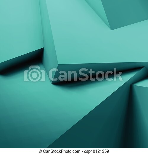 Abstract geometric background with overlapping cubes - csp40121359