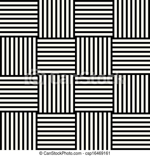 The vector image of abstract geometric black and white ...